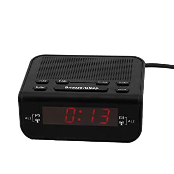 Eboxer LED Reloj Despertador Radio,Radio Despertador Digital Pantalla LED de 0.6 Pulgadas Double Despertador Radio: Amazon.es: Electrónica