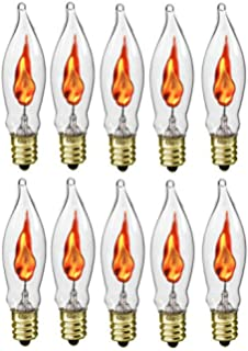 Amazon.com: Flicker Flame Light Bulbs, Rolay 3 Watt Halloween ...