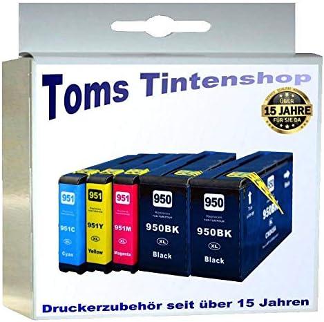 5 Xl Patronen Für Officejet Pro 8600 Plus E All In One Hp 950xl Hp 951xl Mit Chip Und Füllstandsanzeige Bürobedarf Schreibwaren