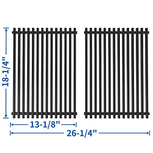 SHINESTAR Grill Grates Replacement for Charbroil 463268007, 463268606, 463247009, 463244011, 463248108, Thermos 461262407, Master Forge GGP-2501, 18x13 Porcelain-enameled Steel Cooking Grate(SS-KW006)