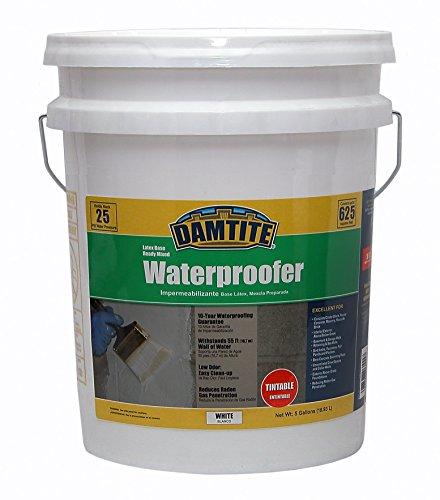 Damtite 03555 White Latex Waterproofer 5 gal Pail