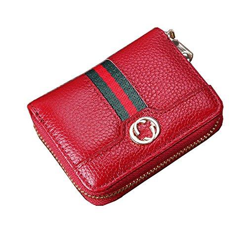 Women RFID Blocking Credit Card Holder Leather Cute Wallet Zipper Purse (Gucci Wallet Women Leather)