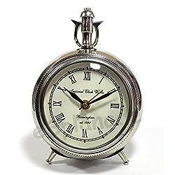 eSplanade 7 Metal Vintage Clock   Classic Retro Clock, European Style Vintage Table Clock Desk Clock   Clocks for Home   Time Piece