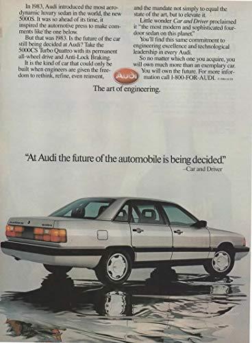 Magazine Print ad: 1986 Audi 5000 Series, 5000CS Turbo Quattro sedan,