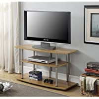 Convenience Concepts Designs 2 Go TV Stand, for TVs up to 42 (Light Oak)