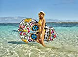 """Inflatable Pool Float Giant Sugar Skull Air Lounge Toy Large 71x51"""" (inflated) Airtime"""