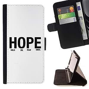Momo Phone Case / Flip Funda de Cuero Case Cover - BIBLIA Esperanza; - Samsung Galaxy Core Prime