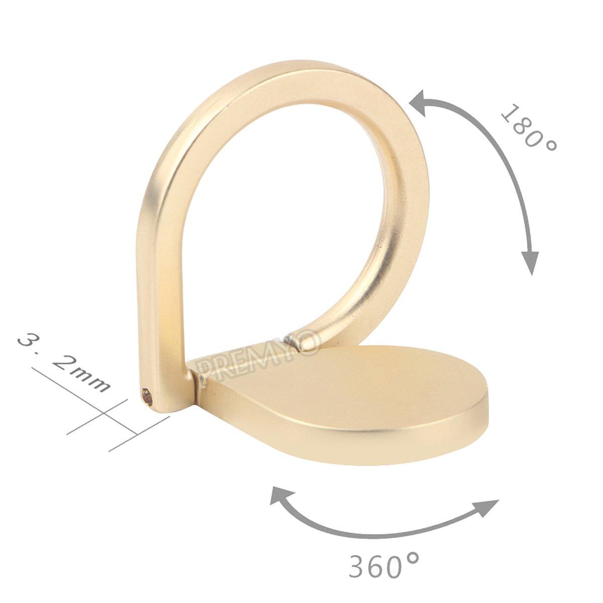 PREMYO Handy Fingerhalter mit 360° Drehfunktion in Gold Handy Ring für eine k Sonstige