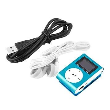 DF Portable Clip de Metal Reproductor de música MP3 Mini ...