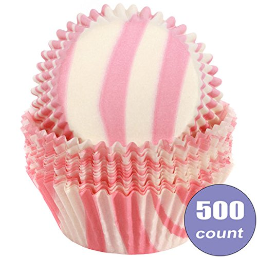 Birthday Direct Cupcake Muffin Liner Baking Cups Bulk - 500 Count Wedding, Party, Shower, Crafts, Bakery (Pink Zebra Print)