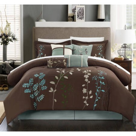 Fortuno-8-Piece-Bedding-Comforter-Set-Queen-Brown