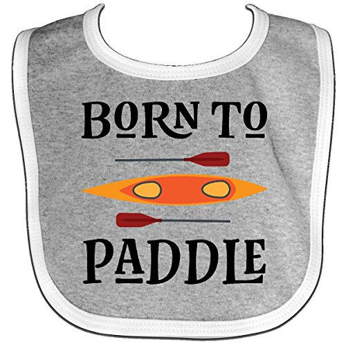 Kayak 116 (Inktastic - Kayaking Born To Paddle Kayak Baby Bib Heather/White 2deb1)