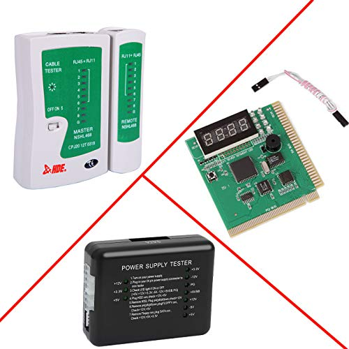 HDE PC and Network Test Kit - Motherboard POST Analyzer Network Cable Tester & Power Supply Tester