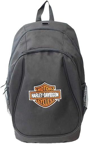Harley-Davidson Embroidered Bar Shield Logo Backpack, Black XBP1500-BLACK