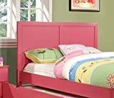 Furniture of America Kolora Adjustable Youth Headboard, Pink, Full to Queen