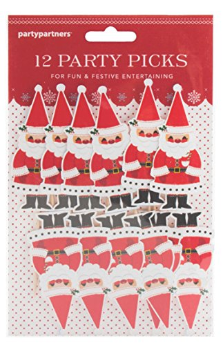Party Partners Design 12 Count Santa Party Picks