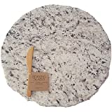 """Serving Slab Lazy Susan, Small White, 12"""" round"""