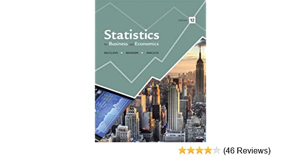 Statistics For Business And Economics 12th
