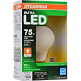 SYLVANIA 75W Equivalent - LED Light bulb - A19 Lamp - 1 Pack / Soft White - Dimmable & Energy Star qualified ULTRA Line - E26 Medium Base - 9.5W - 2700K
