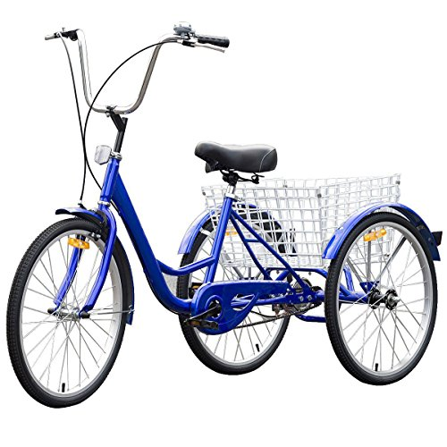 "24"" Blue Single Speed Tricycle with Adjustable Seat By Choice Products"
