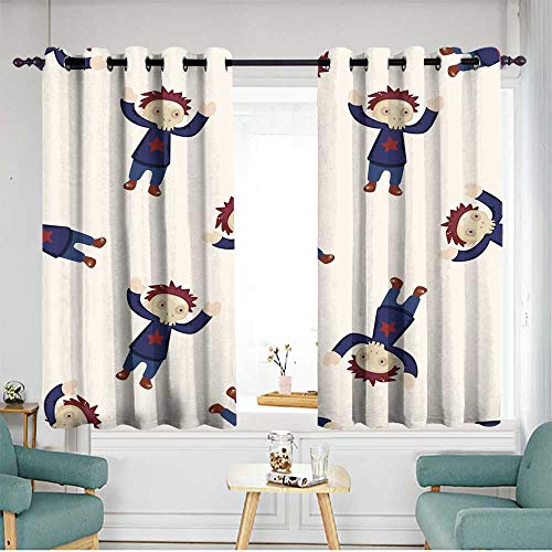 home1love Thermal Insulated Blackout Curtains Hipster Patterned W 55