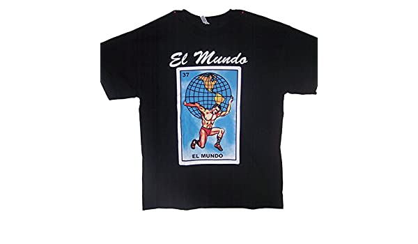 Amazon.com: El Mundo Lottery T-Shirts Mexican T-Shirts Loteria (MxTs310 Z): Clothing