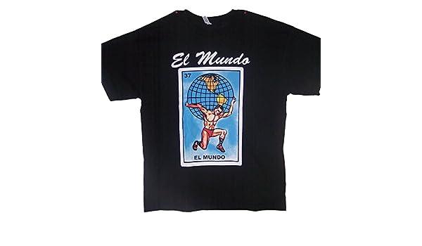 Amazon.com: El Mundo Lottery T-Shirts Mexican T-Shirts Loteria (MxTs310 Z): Clothing