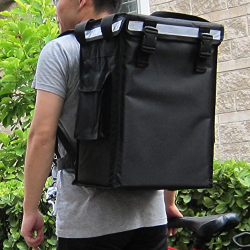 PK-34V: Small Food Delivery Backpack for Hot and Cold, Beverage Delivery Carrier, Drinking Delivery Bag, Coffee Take Out Delivery Box, Top Loading, Velcro Closure, 13