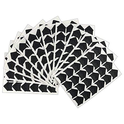 264 PCS Vintage Black Self-Adhesive Acid Free Paper Photo Mounting Stickers Corners for Scrapbooking Album Dairy (Edges Photo)