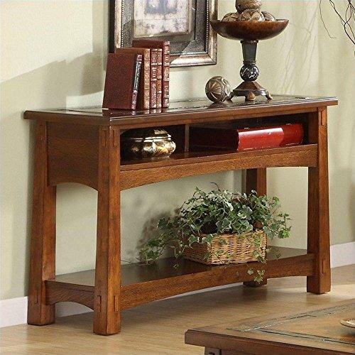 Craftsman Home Console Table in Americana Oak Finish (Riverside Desk Oak)