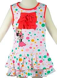 Sleeveless Polkadot Minnie Mouse Layered Dress