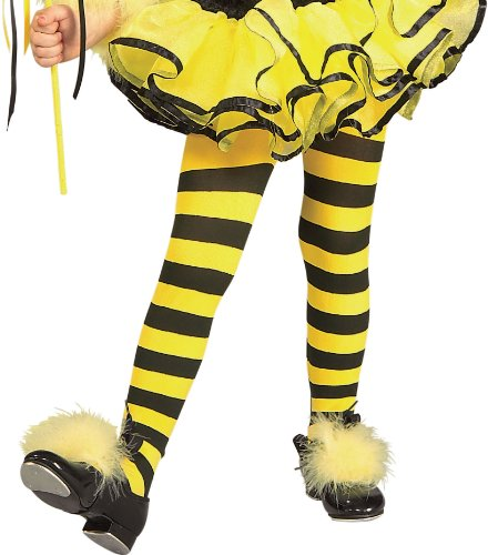 Make A Bee Costume At Home (Rubies Striped Child Bumble Bee Tights)