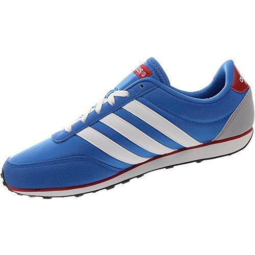 Adidas - V Racer - Color: Blanco-Celeste-Rojo - Size: 46.6