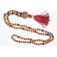Meditation Tibetan Prayer Beads Necklace Garnet AMBITION Rudraksha Malas Healing Mala