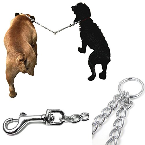 Heavy Duty Metal Chain Double Pet Dog Clip Leash Coupler , Walker and Trainer for Small Medium Large Dual Dog Leash - No Tangle Dual Pet Leash Splitter for 2 Dogs (L-4.0mm70cm) by Cotogo (Image #5)