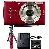 Canon IXUS 185/ELPH 180 20MP Red Digital Camera + Flexible Tripod