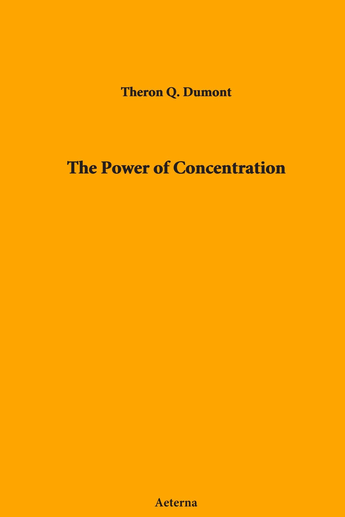 Download The Power of Concentration pdf