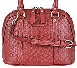 Gucci Women's Micro GG Leather Convertible Mini Dome Purse (Red)