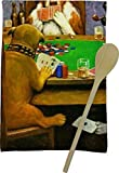 RNK Shops Dogs Playing Poker 1903 C.M.Coolidge Kitchen Towel - Full Print