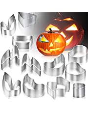 Pumpkin Carving Kit, Pumpkin Carving Stencils, Halloween Pumpkin carving tools, Stainless Steel Pumpkin Face Carving Tools for Halloween Decorations DIY (12 Piece)