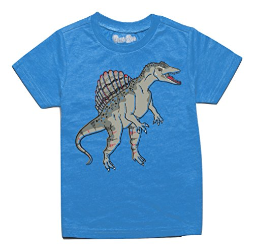 Peek-A-Zoo Toddler Short Sleeve Tshirt - Spinosaurus Turquoise - 4T -