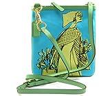 COACH Bonnie Novelty Print Swingpack Crossbody in Blue / Green 42605