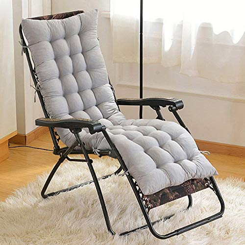 Sun Lounger Cushion Replacement Classic Garden Patio Thick Chair Recliner Relaxer Pad (No Chair) (Gray) ()