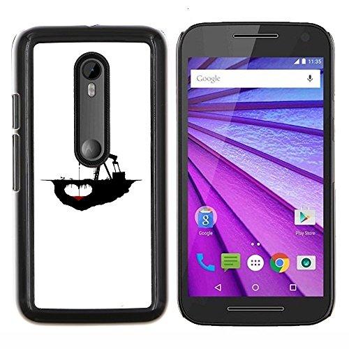 Deep Oil Drilling - /Skull Market/ - Fracking Oil Drilling Deep Message For Motorola Moto G (3rd Gen 2015) - Hand Painted Custom Luxury Cover Case -