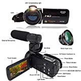 ORDRO HD Video Camcorder 1080P Portable Digital Camera with Wifi External Microphone Wide Angle Lens (HDV-Z20)