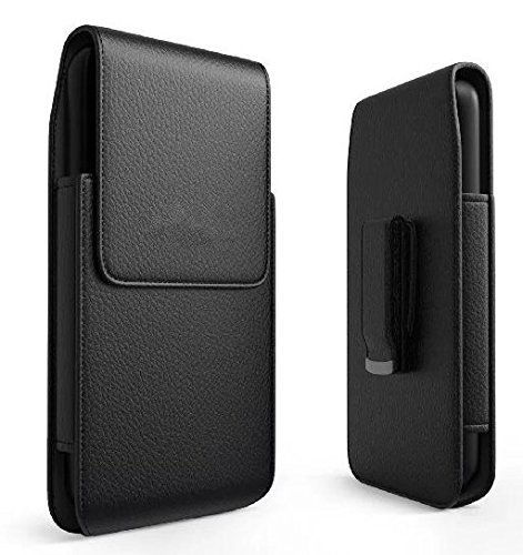 Faux Leather Vertical Executive Holster Belt Clip Pouch Case for Samsung Galaxy Note 8/S8 Active/S9/S9 Plus/Motorola Moto G5s Plus/E4 Plus/Z2 Play/Asus ZenFone - Executive Case Vertical
