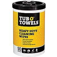 "Toallas de la tina O Toallitas de limpieza multisuperficiales de gran tamaño, tamaño 10 ""x 12"", 90 unidades por recipiente"