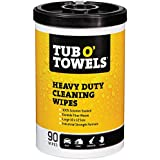 """Tub O Towels Heavy-Duty 10"""" x 12"""" Size Multi-Surface Cleaning Wipes, 90 Count Per Canister"""