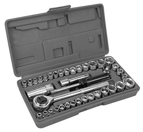 Piece Tool 40 Socket (Performance Tool W1173 SAE/Metric 40-Piece Socket Set (1/4
