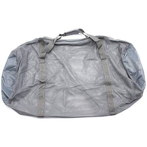 Heavy-Duty Mesh Duffle Bag. Great for Sports Equipment, Scuba Diving, Snorkeling, Swimming and More (Gray)